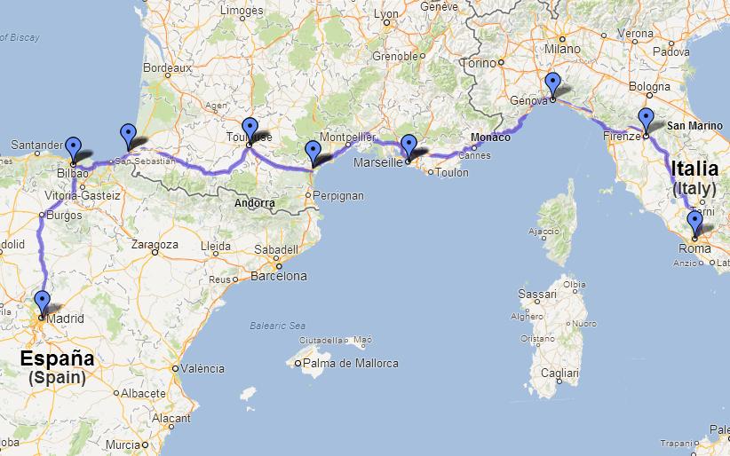 Una aventura de Torchi: Madrid a Roma - Europa 2013