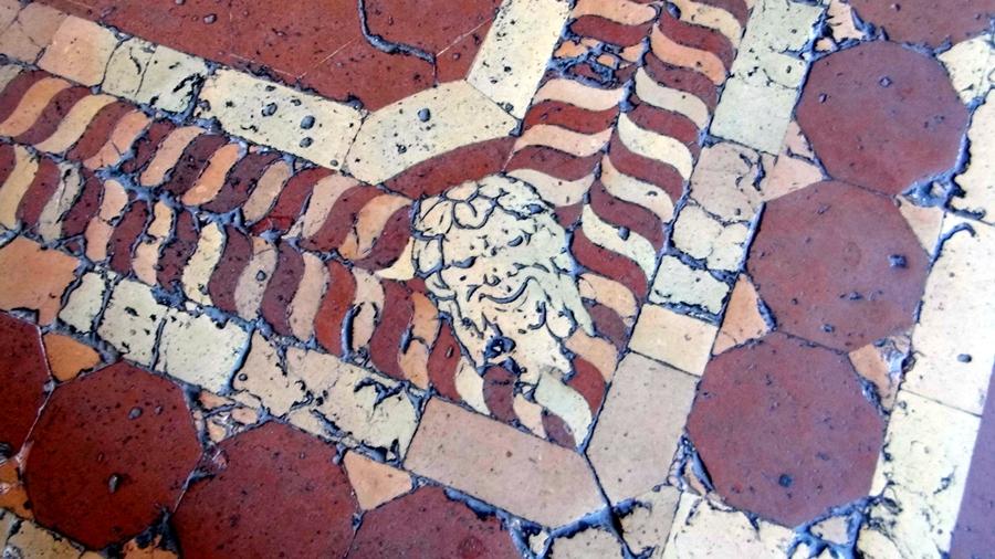 detalle de piso del Palazzo Vecchio